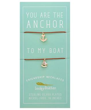 ANCHOR/BOAT FRIENDSHIP NECKLACE
