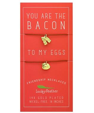 BACON/EGGS FRIENDSHIP NECKLACE