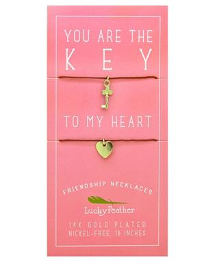 KEY/HEART FRIENDSHIP NECKLACE