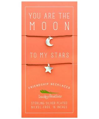 MOON/STARS FRIENDSHIP NECKLACE