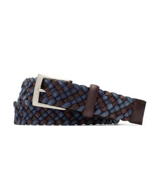 1 3/8 LEATHER AND CLOTH BRAID BELT