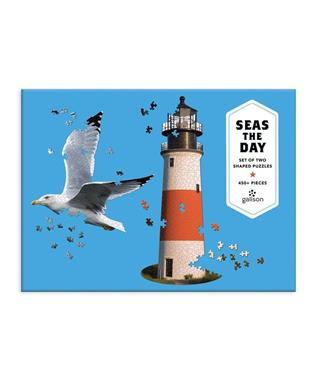 SEAS THE DAY 2 IN 1 SHAPED PUZZLE