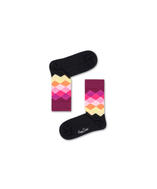 LADIES FADED DIAMOND SOCK