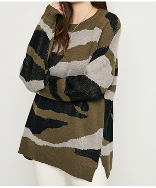 Camo Knit Sweater
