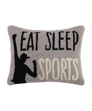 EAT SLEEP SPORTS PILLOW