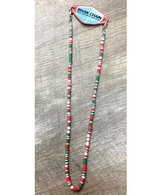 RED WHITE & GREEN SHELL MASK CHAIN