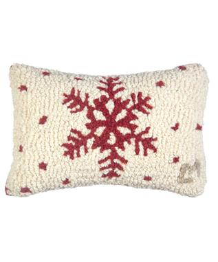 RED FLAKE 8 X 12 PILLOW