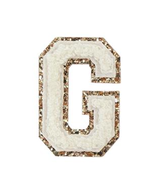 BLANC ALPHABET GLITTER-G