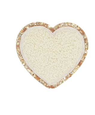GLITTER HEART PATCH