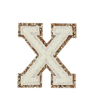BLANC ALPHABET GLITTER-X