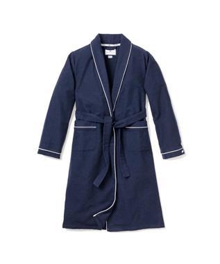 Navy Flannel Robe