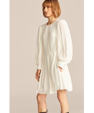 LONG SLEEVE SHADOW STRIPE DRESS