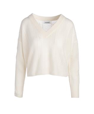 CABLE KNIT VNECK SWEATER