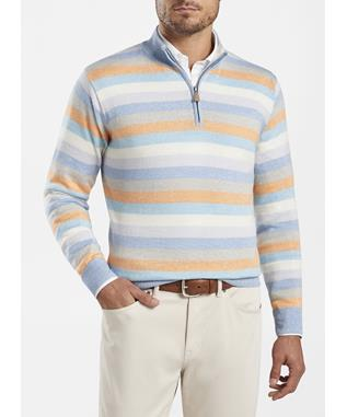 CROWN COOL WOOL-LINEN COACH QTR ZIP