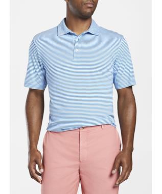 BEACHBREAK AQUA COTTON POLO