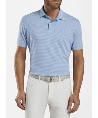 BULLOCK STRIPE PERFORMANCE POLO