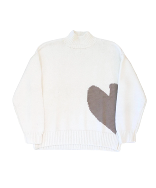 IMPERFECT HEART COTTON MOCK NECK
