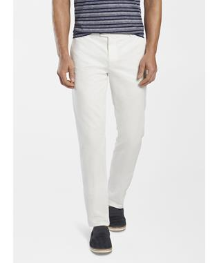 CONCORD GARMENT DYED FLAT-FRONT TROUSER