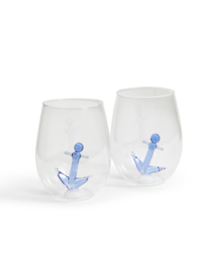 Anchors Aweigh Stemless Wine Glass