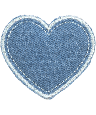 PUFFY BLUE HEART PATCH