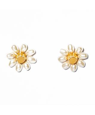 PEARL JELLYBEAN FLOWER EARRINGS