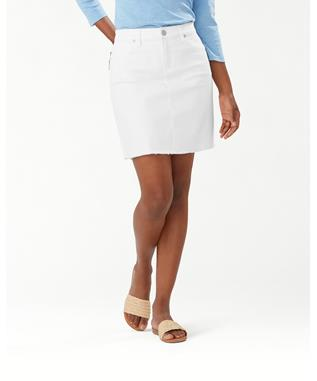 ELLA TWILL DENIM SHORT SKIRT
