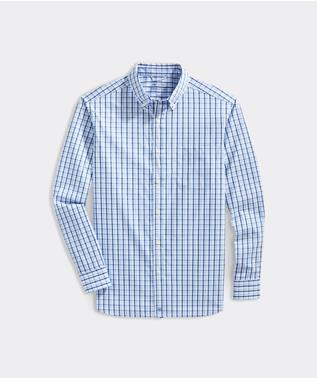 CLSSC CHECK COTTON PERF SHIRT