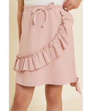 Drawstring Ruffle Skirt