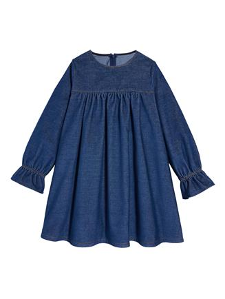 Denim Corduroy Dress  Indigo