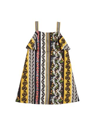 Vintage Patchwork Cotton Dress  MULTI