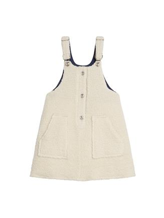 Shearling Overall Dress  Ivory