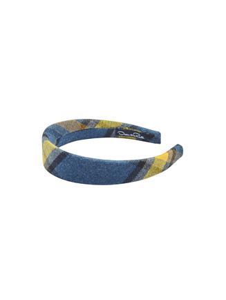 Plaid Flannel Headband  Blue Multi