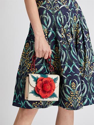 Embroidered Mini TRO Bag  Ivory Multi