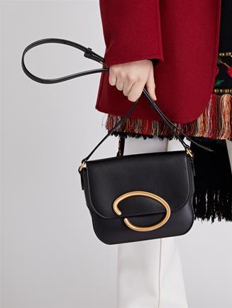 Black Leather Oath Bag   Black