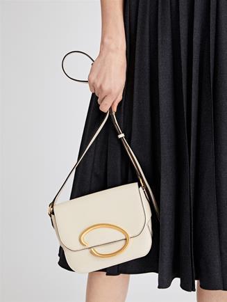 Ivory Leather Oath Bag   Ivory