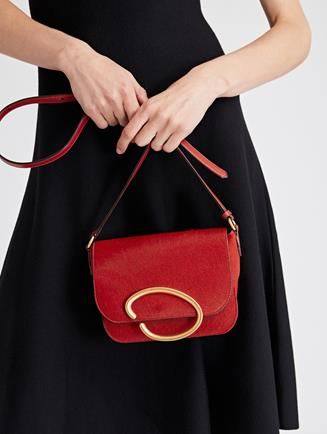 Cranberry Leather Oath Bag   CRANBERRY