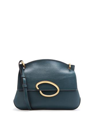 Dark Green Leather Remedy Bag  Dark Green