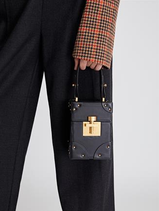Studded Black Leather Alibi Bag  Black