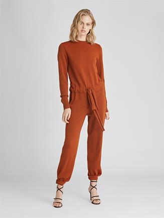 Wool Jumpsuit  Cumin