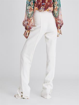 Stretch-Wool Cady Pants  Ivory