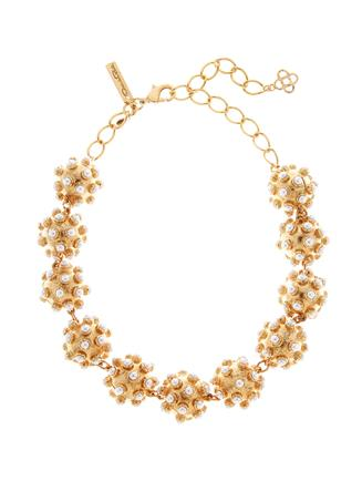Cabochon Ball Necklace  White