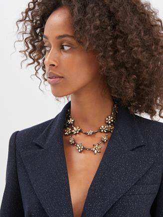 Crystal Star Necklace  Light Topaz