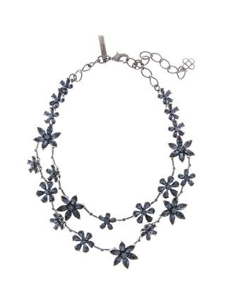 Crystal Star Necklace  Navy