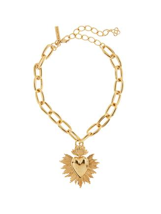 Sacred Heart Necklace  Gold