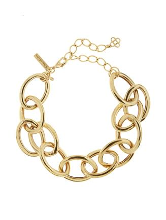 Oversized Chain Link Necklace  Gold