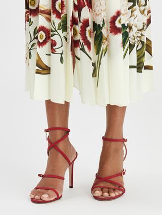 Ruby Asymmetric Sandals Cayenne