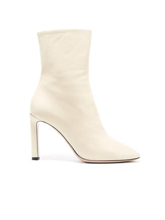 Leather Rugby Ankle Boot Ivory