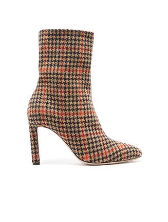GlenPlaid Wool Rugby Ankle Boot Camel Multi