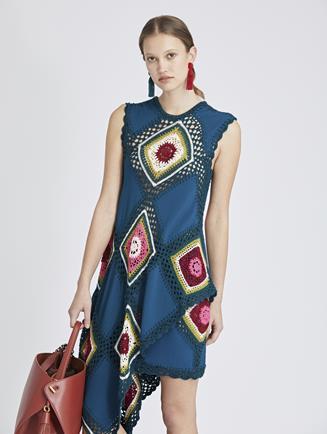 Patchwork Crochet Skirt Spruce