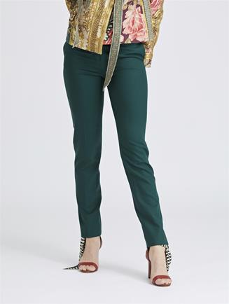 Stretch-Wool Gabardine Skinny Pants Basil